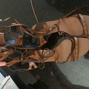 Zara Gladiator Heels - Like New 38